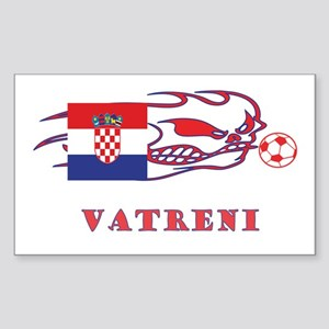 "Whooligan Croatia ""Vetreni"" Rectangle Sticker"