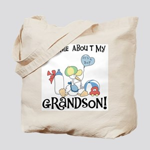 Stork New Grandson Tote Bag