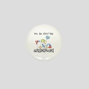 Stork New Grandson Mini Button