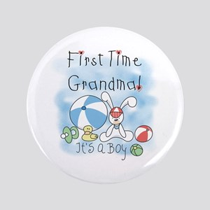 "Grandma Baby Boy 3.5"" Button"