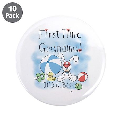 "Grandma Baby Boy 3.5"" Button (10 pack)"
