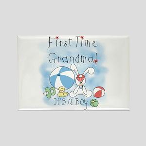 Grandma Baby Boy Rectangle Magnet