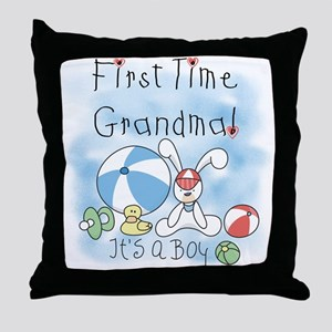 Grandma Baby Boy Throw Pillow