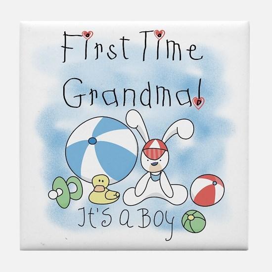 Grandma Baby Boy Tile Coaster