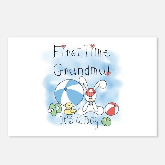 Grandma Baby Boy Postcards (Package of 8)