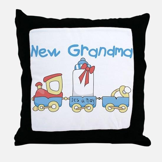 Train New Grandma Throw Pillow