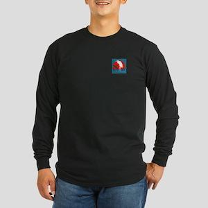 White Crane Long Sleeve Dark T-Shirt