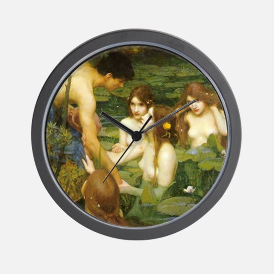 Waterhouse's Hylas and the Nymphs Wall Clock
