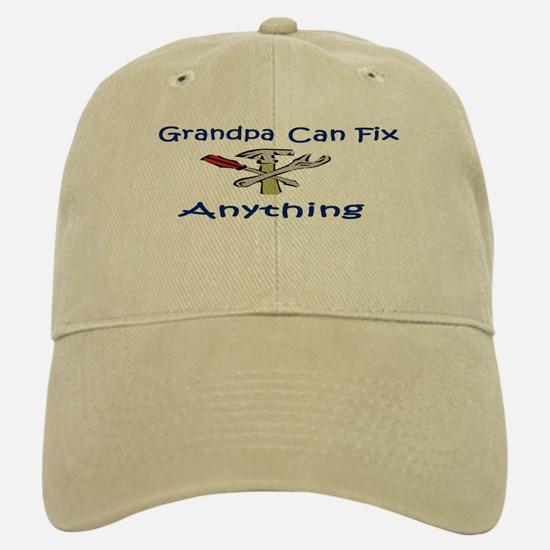 Grandpa Can Fix Anything Baseball Baseball Cap