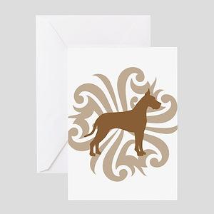 Tan & Brown Great Dane Greeting Card