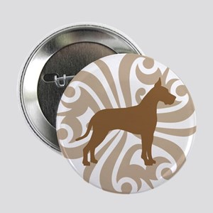 "Tan & Brown Great Dane 2.25"" Button"