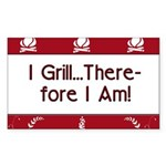I Grill Therefore I AM Rectangle Sticker 50 pk)