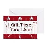 I Grill Therefore I AM Greeting Cards (Pk of 20)