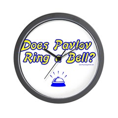 Does Pavlov Ring A Bell Wall Clock