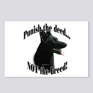 GSD (black) Anti-BSL 3 Postcards (Package of 8)