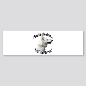 GSD (white) Anti-BSL 3 Bumper Sticker