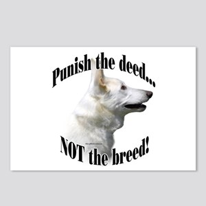 GSD (white) Anti-BSL 3 Postcards (Package of 8)