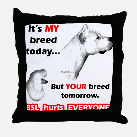 Dogo BSL2 Throw Pillow