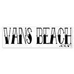 Vans Beach Tattoo Bumper Sticker (10 pk)