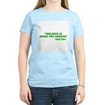 Violence Is Never The Answer Women's Light T-Shirt