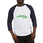Violence Is Never The Answer Baseball Jersey