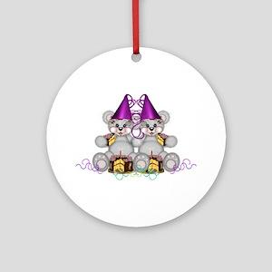 BIRTHDAY TWINS Ornament (Round)