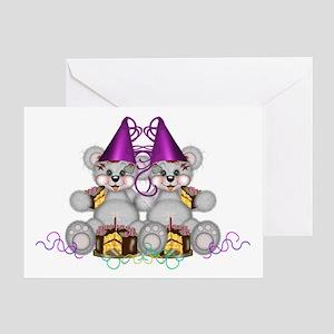 BIRTHDAY TWINS Greeting Card