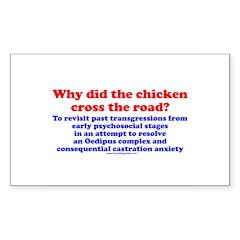 Chicken Oedipus Rectangle Sticker 10 pk)