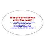 Chicken Oedipus Oval Sticker (50 pk)