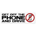 Get off the phone! Bumper Sticker (10 pk)