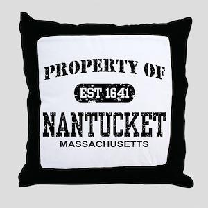 Property of Nantucket Throw Pillow