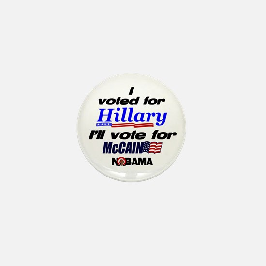 I'll vote McCain Mini Button