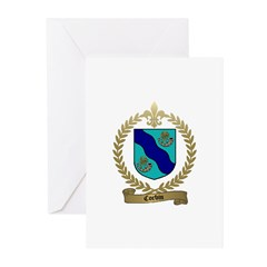 CORBIN Family Crest Greeting Cards (Pk of 10)