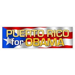 Puerto Rico for Obama Bumper Sticker