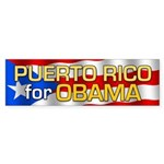 Puerto Rico for Obama Bumper Sticker (50 pk)