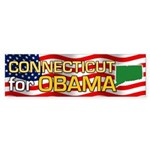 Connecticut for Obama Bumper Sticker (50 pk)