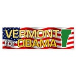 Vermont for Obama Bumper Sticker