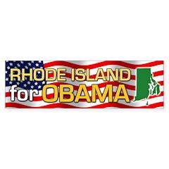 Rhode Island for Obama Bumper Sticker