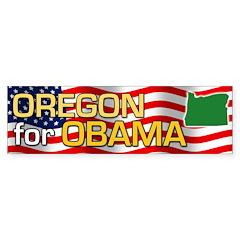 Oregon for Obama Bumper Sticker