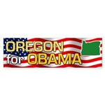 Oregon for Obama Bumper Sticker