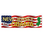 New Jersey for Obama Bumper Sticker (50 pk)