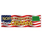 North Dakota for Obama Bumper Sticker (10 pk)