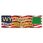 Wyoming for Obama Bumper Sticker (50 pk)
