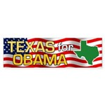 Texas for Obama Bumper Sticker (50 pk)