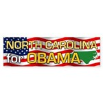 North Carolina for Obama Bumper Sticker (10 pk)