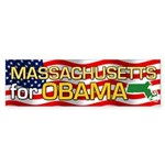 Massachusetts for Obama Bumper Sticker (10 pk)