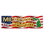 Michigan for Obama Bumper Sticker (10 pk)