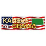 Kansas for Obama Bumper Sticker (50 pk)