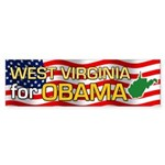 West Virginia for Obama Bumper Sticker (50 pk)