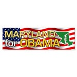 Maryland for Obama Bumper Sticker (50 pk)